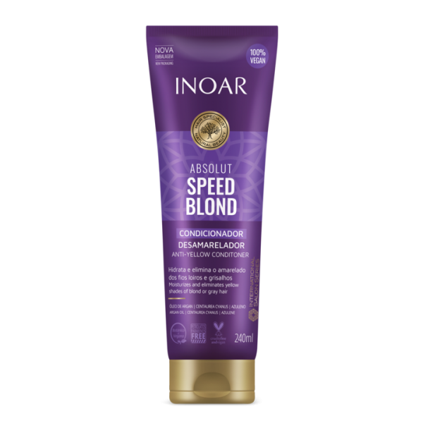 INOAR Speed Blond Conditioner - kondicionierius šviesiems plaukams 240 ml