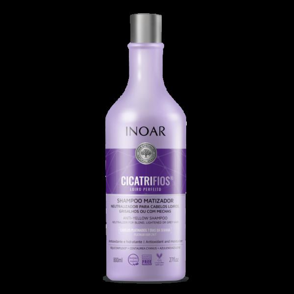INOAR CicatriFios Perfect Blond Shampoo - šampūnas šviesiems plaukams 800 ml