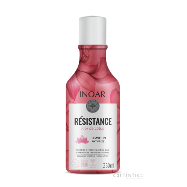 INOAR Resistance Flor de Lotus Leave-in Antifrizz - nenuplaunamas kondicionierius 250 ml