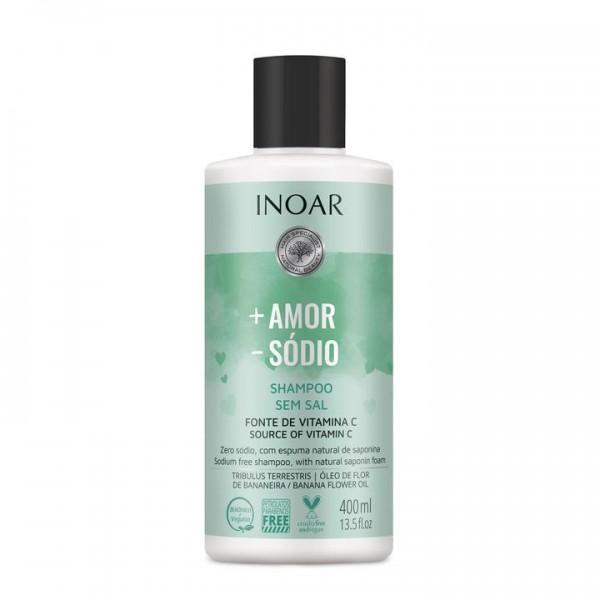 INOAR More Love Less Salt Shampoo – šampūnas be druskų 400 ml