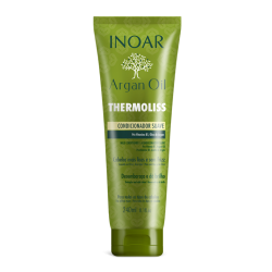 INOAR Argan Oil Thermoliss Conditioner - Garbanotų, nepaklusnių plaukų kondicionierius 240ml