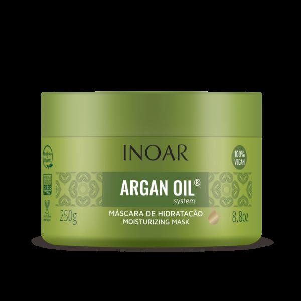 INOAR Argan Oil Mask - intensyviai drėkinanti plaukų kaukė su Argano aliejumi 250 ml