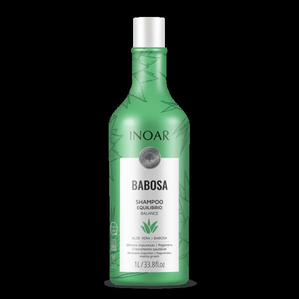 INOAR Babosa Shampoo - drėkinantis šampūnas su alaviju