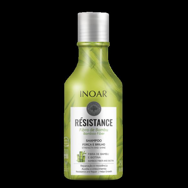 INOAR Resistance Fibra de Bambu Shampoo - stiprinantis ir blizgesio suteikiantis šampūnas 250 ml