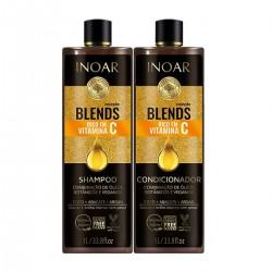 INOAR Blends Kit  – priemonių rinkinys su vitaminu C  2x1000 ml