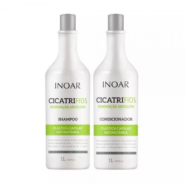 INOAR CicatriFios Duo Kit - plauko struktūrą atkuriantis priemonių rinkinys 2x1 L