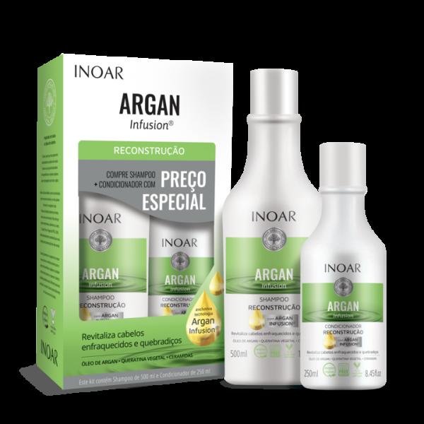 INOAR Argan Infusion Reconstruction Duo Kit - rekonstruojantis šampūno ir kondicionieriaus rinkinys