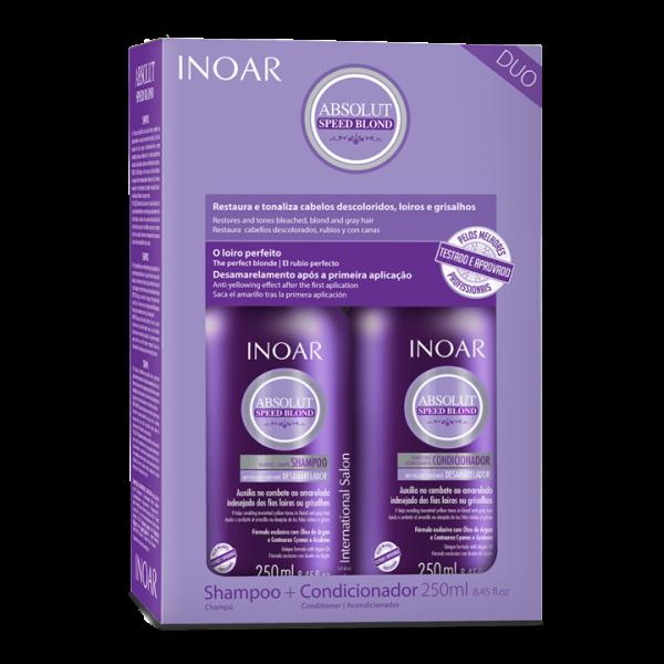Inoar Speed Blond Duo Kit- Rinkinys šviesiems plaukams:šampūnas ir kondicionierius 2x250ml
