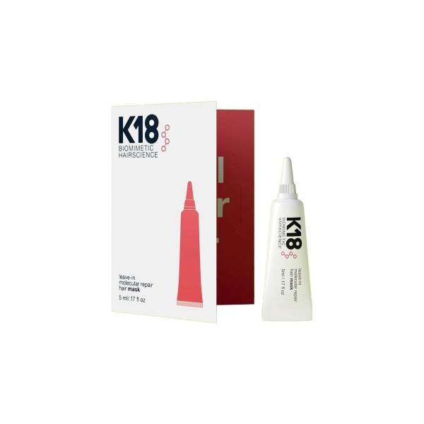 K18 - molekulinė atkuriamoji plaukų kaukė plaukams, 5ml.
