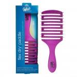 The Wet Brush Flex Dry Paddle - lankstus stačiakampis plaukų šepetys, violetinis