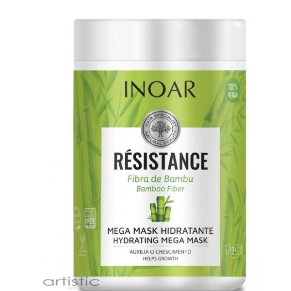 INOAR Resistance Fibra de Bambu Mask - stiprinanti ir blizgesio suteikianti kaukė 1000g