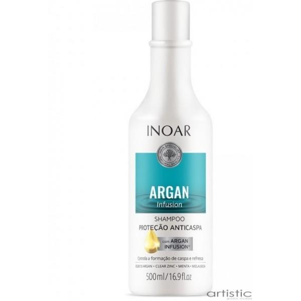 INOAR Argan Infusion Anti-dandruff Protection Shampoo - šampūnas nuo pleiskanų 250ml