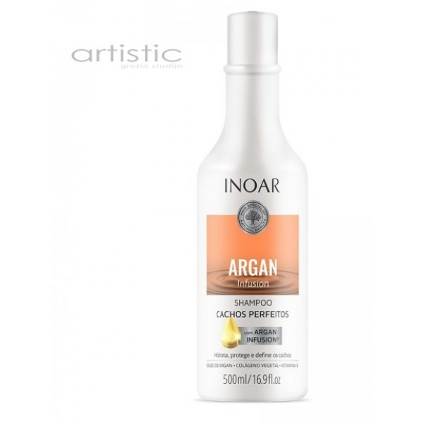 INOAR Argan Infusion Perfect Curls Shampoo - šampūnas tobuloms garbanoms 250ml