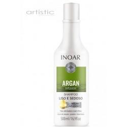 INOAR Argan Infusion Smooth and Silky Shampoo - glotnių ir švelnių plaukų šampūnas 250ml